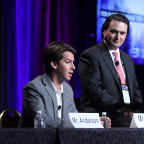 Scott Nolan, a partner in venture capital firm Founders Fund, speaks during a space finance panel at the 31st Space Symposium. Credit: Tom Kimmell