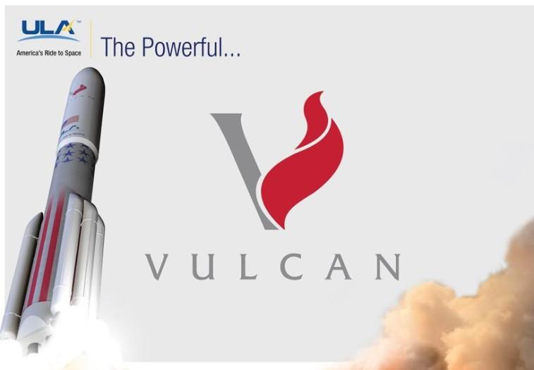 Vulcan logo and artist's concept. Credit: ULA