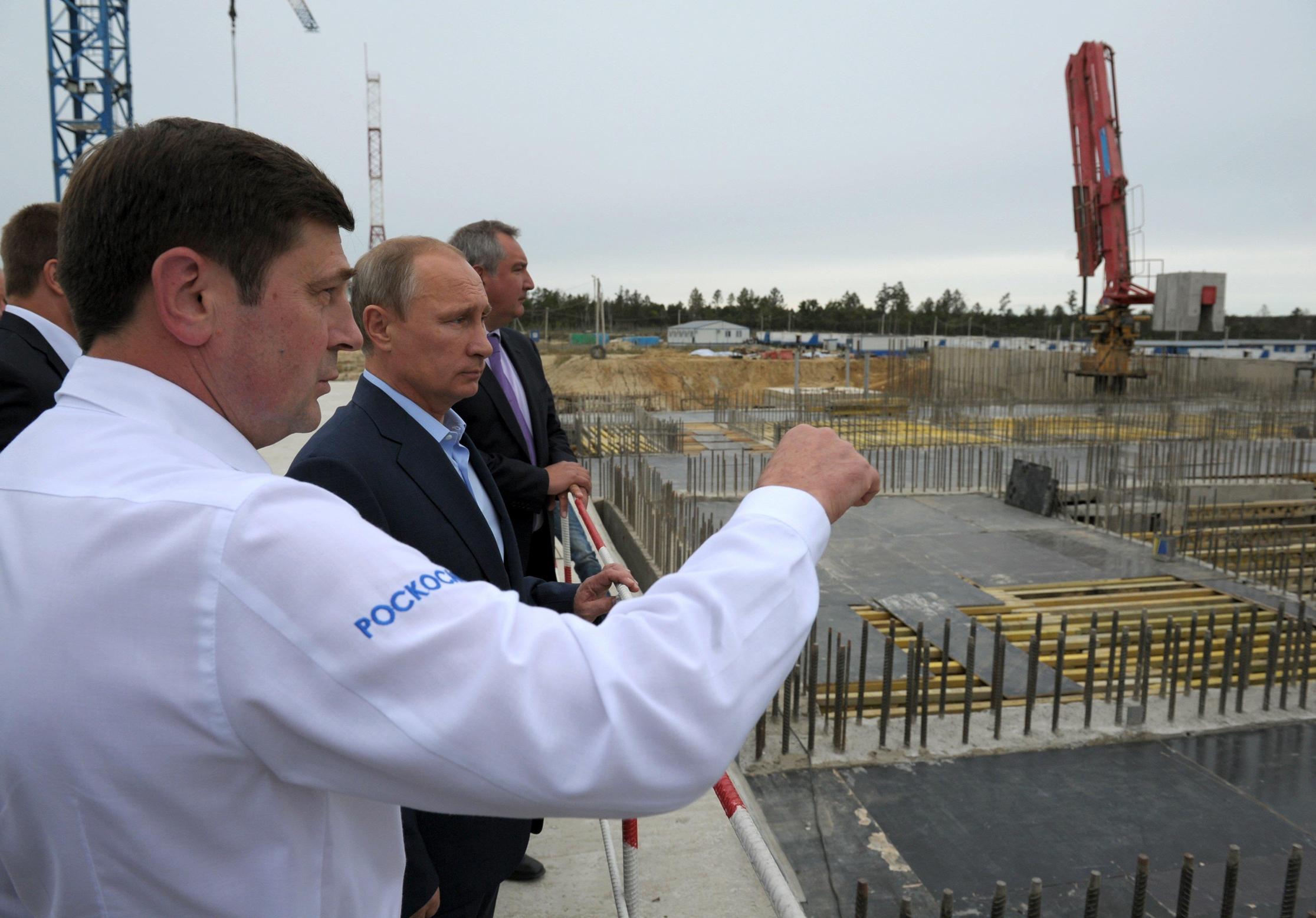 Putin at Vostochny