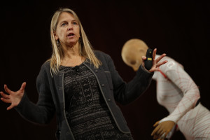 Dava Newman speaking at an MIT event in October 2014. Credit: MIT Parents Association via Flickr