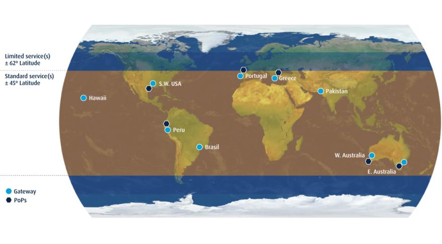 O3b coverage map.