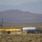 A Virgin Galactic HTPB-fueled RocketMotorTwo during a 2012 test fire. Credit: Virgin Galactic