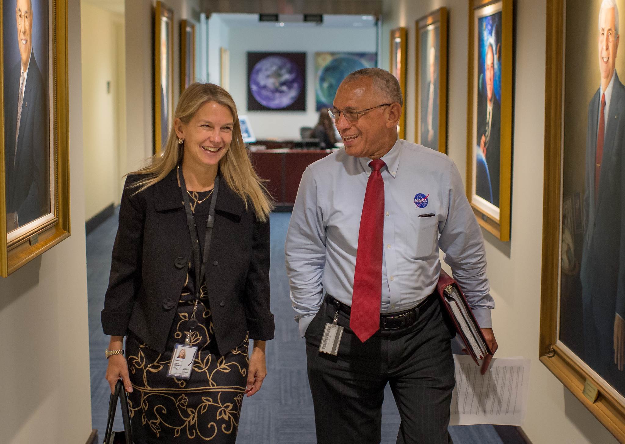 Dava Newman and Charlie Bolden photo