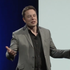 SpaceX CEO Elon Musk unveils the Tesla Power Wall at an April 30 event in Los Angeles. Credit: Tesla video grab