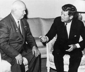 John Kennedy meeting with Nikita Khrushchev
