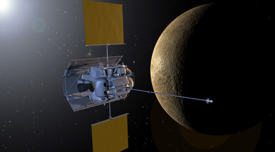 NASA's MESSENGER probe orbiting Mercury