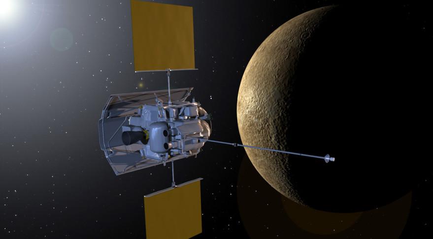 NASA's MESSENGER probe orbiting Mercury