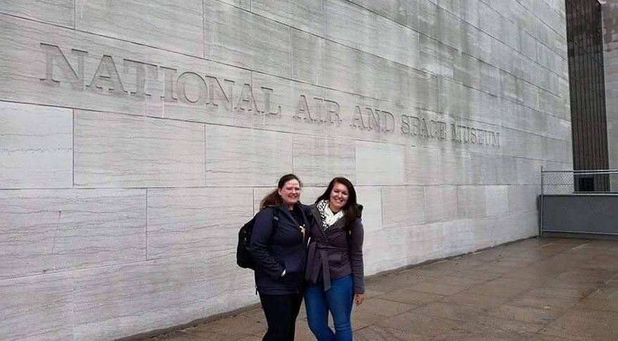 Sarah Beattie (left) and Lauren Siegel in D.C. for March Storm
