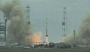 The May 16 liftoff of an ILS Proton rocket carrying Mexico's Centenario mobile communications satellite. Credit: video capture via SpaceVidsTV