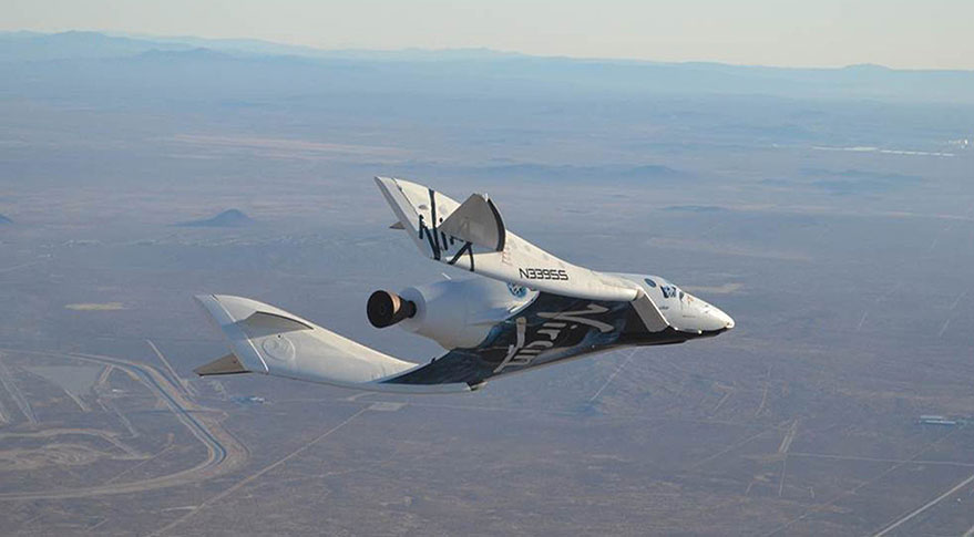 SpaceShipTwo test flight. Credit: Virgin Galactic