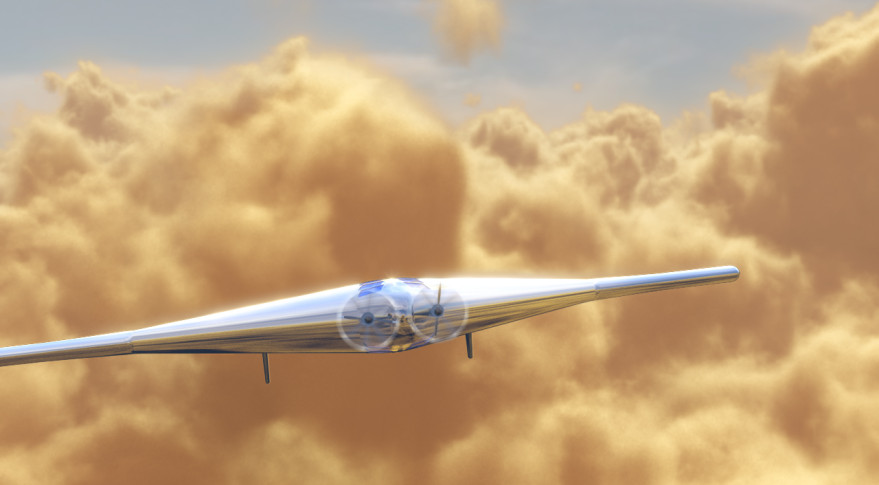 Concept art for Northrop Grumman's proposed Venus airplane, the Venus Atmopsheric Maneuverable  Platform (VAMP). Credit: Northrop Grumman