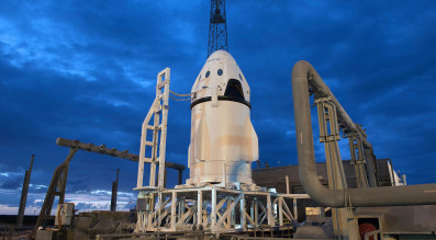 SpaceX on May 6 completed a Dragon pad abort demonstration at Cape Canaveral Air Force Station, Florida. Credit: SpaceX