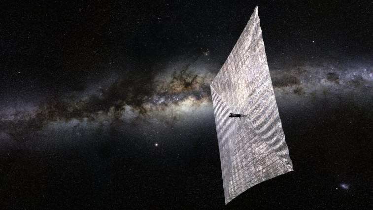An artist's rendition of LightSail with fully deployed solar sail. Credit: The Planetary Society