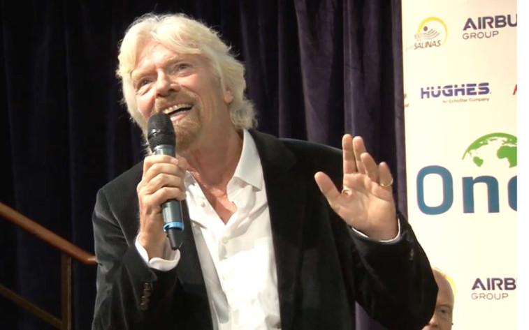 Sir Richard Branson. Credit: OneWeb