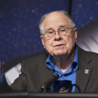 William Borucki, Kepler Science Principal Investigator from NASA's Ames Research Center, speaks during a news conference, Feb. 2, 2010, at NASA Headquarters.  Credit: NASA/Paul E. Alers