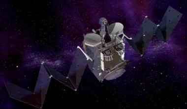 Artist's concept of Intelsat's upcoming high-throughput Epic satellite. Credit: Intelsat video grab