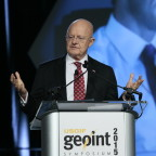 Director of National Intelligence James Clapper addressed GEOINT 2015 on June 25. Credit: U.S. Geospatial Intelligence Foundation