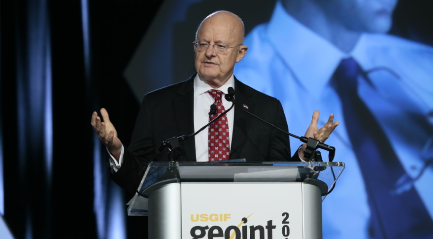 Director of National Intelligence James Clapper addressed GEOINT 2015 on June 25. Credit: U.S. Geospatial Intelligence Foundation