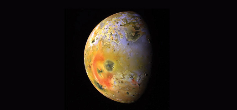 Io, as seen from the Galileo probe. Credit: NASA/JPL