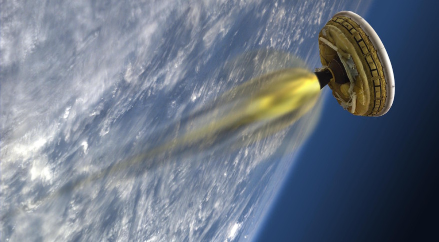 Artist's rendering of the LDSD, NASA's 'flying saucer.' Credit: NASA/JPL-Caltech