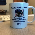Alan Stern's coffee cup. Stern is the principle investigator for NASA's New Horizons mission, which launched in 2006 en route to a historic 2015 Pluto flyby. Credit: Alan Stern