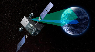 The U.S. Air Force's  upcoming fifth and sixth satellites in its missile warning constellation will have a new satellite bus, Lockheed Martin's A2100. Credit: Lockheed Martin.