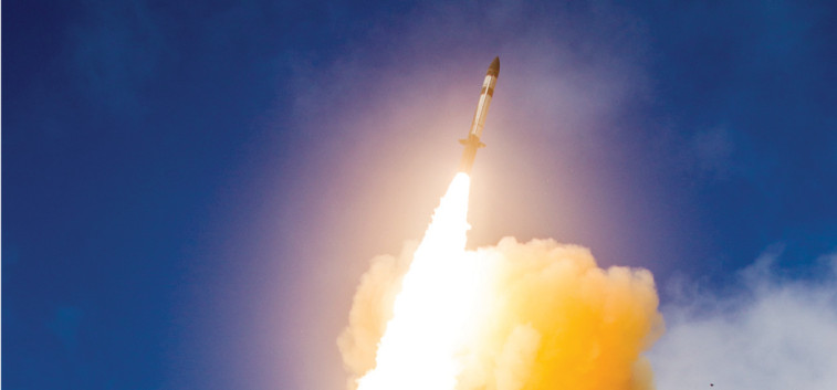A new missile interceptor co-developed by the United States and Japan launches from a Navy range June 6 as part of its first flight. Credit: Missile Defense Agency.