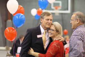 Rep. Brian Babin (R-Texas), shown celebrating his victory in a March 2014 primary, has been named chairman of the House Science space subcommittee. Credit: Dr. Brian Babin for Congress