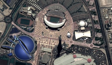 Deimos-2, which launched June 19, 2014, captured this image of the complex built for the 2022 World Cup in Qatar capital of Doha. Credit: Deimos