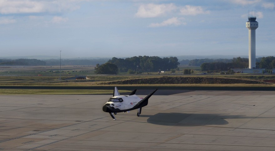 Dream Chaser at Huntsville airport