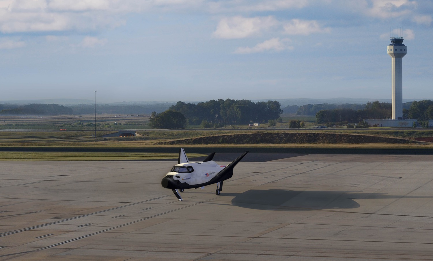 Dream Chaser at Huntsville airport