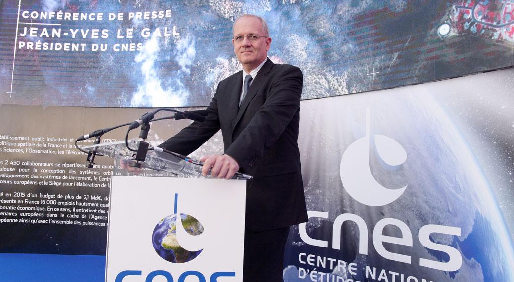 CNES President Jean Yves Le Gall at the Paris Air Show 2015
