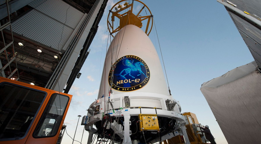 The NRO's classified NROL-67 mission launched in 2014 aboard a United Launch Alliance Atlas 5 rocket.