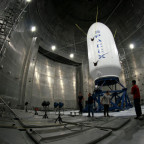 SpaceX Falcon 9 payload fairing in test chamber. Credit: SpaceX.