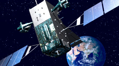 Artist's concept of SBIRS satellite. Credit: U.S. Air Force