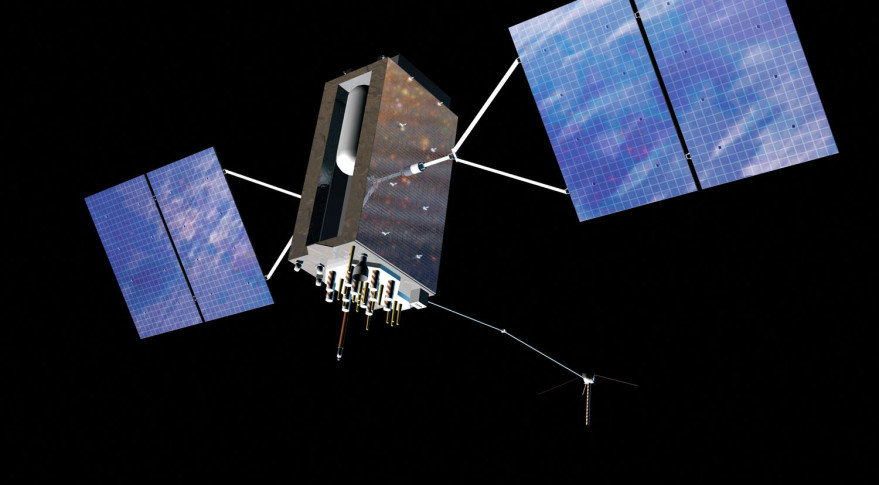 Artist's concept of Lockheed Martin's GPS 3 satellite. Credit: U.S. Air Force