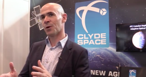 Craig Clark, founder and CEO of Scotland's Clyde Space Ltd., gives an interview during the 2015 UK Space Conference. Credit: Imperative Space/SpaceNews
