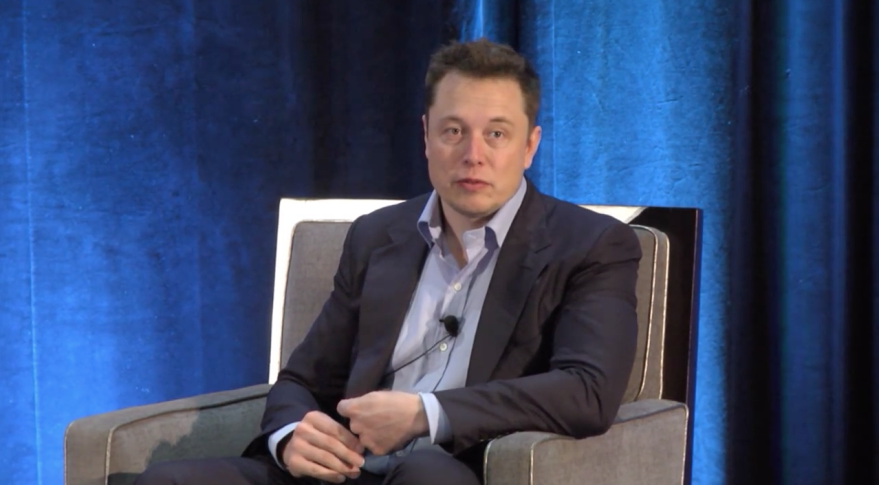 SpaceX CEO Elon Musk, speaking July 7, 2015 at the International Space Station Research and Development Conference. Credit: CASIS video still
