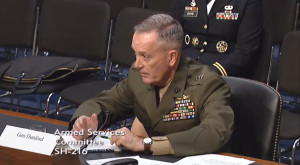 Gen. James Dunford at his confirmation hearing for Chairman of the Joint Chiefs of Staff. Credit: U.S. Senate video capture