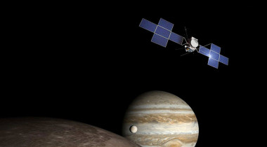 Artist's concept of ESA's Jupiter Icy Moons, or Juice, mission. Credit: Airbus