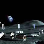 Artist's concept of lunar base. Credit: Alliance for Space Development