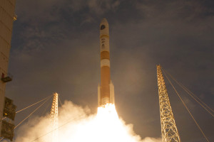 A Delta 4 rocket from United Launch Alliance lifts the seventh WGS satellite into orbit for the U.S. Air Force on July 23. Credit: United Launch Alliance