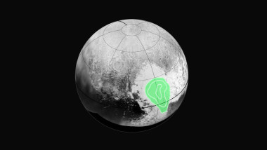 "Peering closely at the ""heart of Pluto,"" in the western half of what mission scientists have informally named Tombaugh Regio  (Tombaugh Region), New Horizons' Ralph instrument revealed evidence of carbon monoxide ice.  The contours indicate that the concentration of frozen carbon monoxide increases towards the center of the ""bull's eye."" These data were acquired by the spacecraft on July 14 and transmitted to Earth on July 16. Credit: NASA, JHUAPL, SWRI"