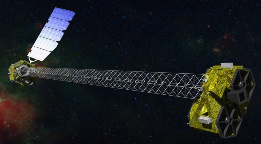 The Nuclear Spectroscopic Telescope Array (NuSTAR), launched in 2012, is an Explorer mission that allows astronomers to study the universe in high energy X-rays. (NASA/JPL-Caltech artist's concept)