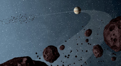 Small bodies dominate our solar system. Credit: NASA artist's concept