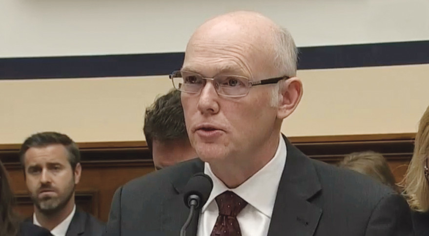 Tory Bruno, president and chief executive of United Launch Alliance, testifies before the House Armed Services strategic forces subcommittee June 27.