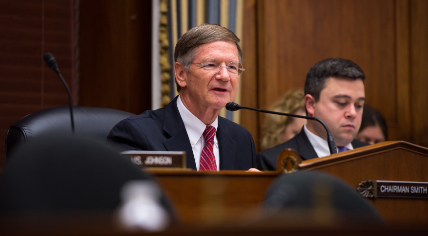 Rep. Lamar Smith (R-Texas) chairs a hearing of the House Science Committee. Credit: NASA