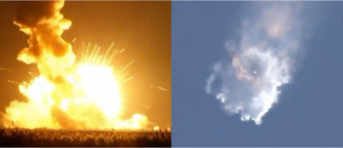 Elizabeth Buchen, director of the engineering economics group of SpaceWorks Engineering, said the decline in satellites is primarily due to failures of Orbital ATK's Antares and SpaceX's Falcon 9 launch vehicles in October 2014 and June 2015, respectively. Credit: NASA TV/SpaceNews