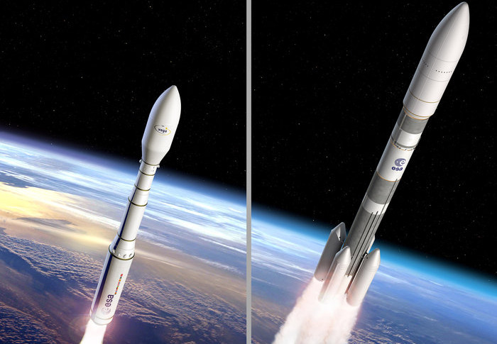 Ariane 6 and Vega C artist's concepts. Credit: ESA
