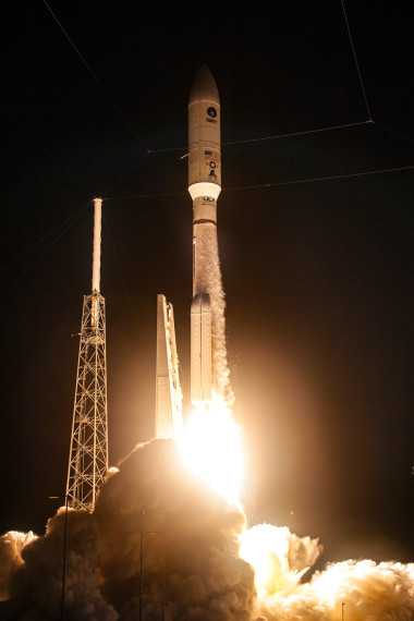 An Atlas V rocket carrying the MUOS-4 mission lifts off from Space Launch Complex 41. Credit: ULA